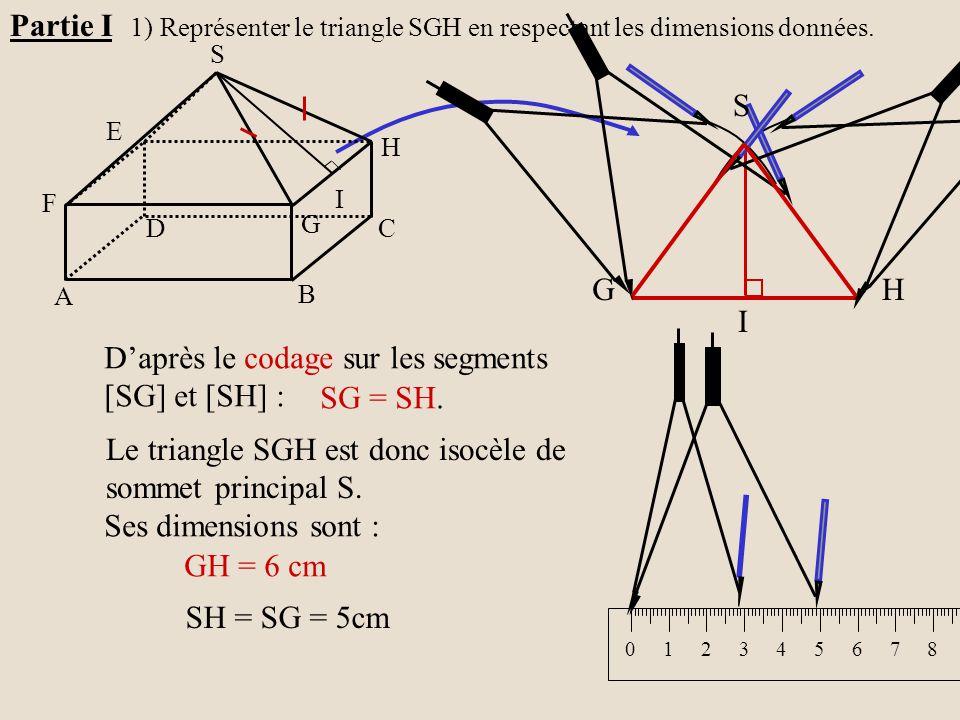 D'après le codage sur les segments [SG] et [SH] : SG = SH.